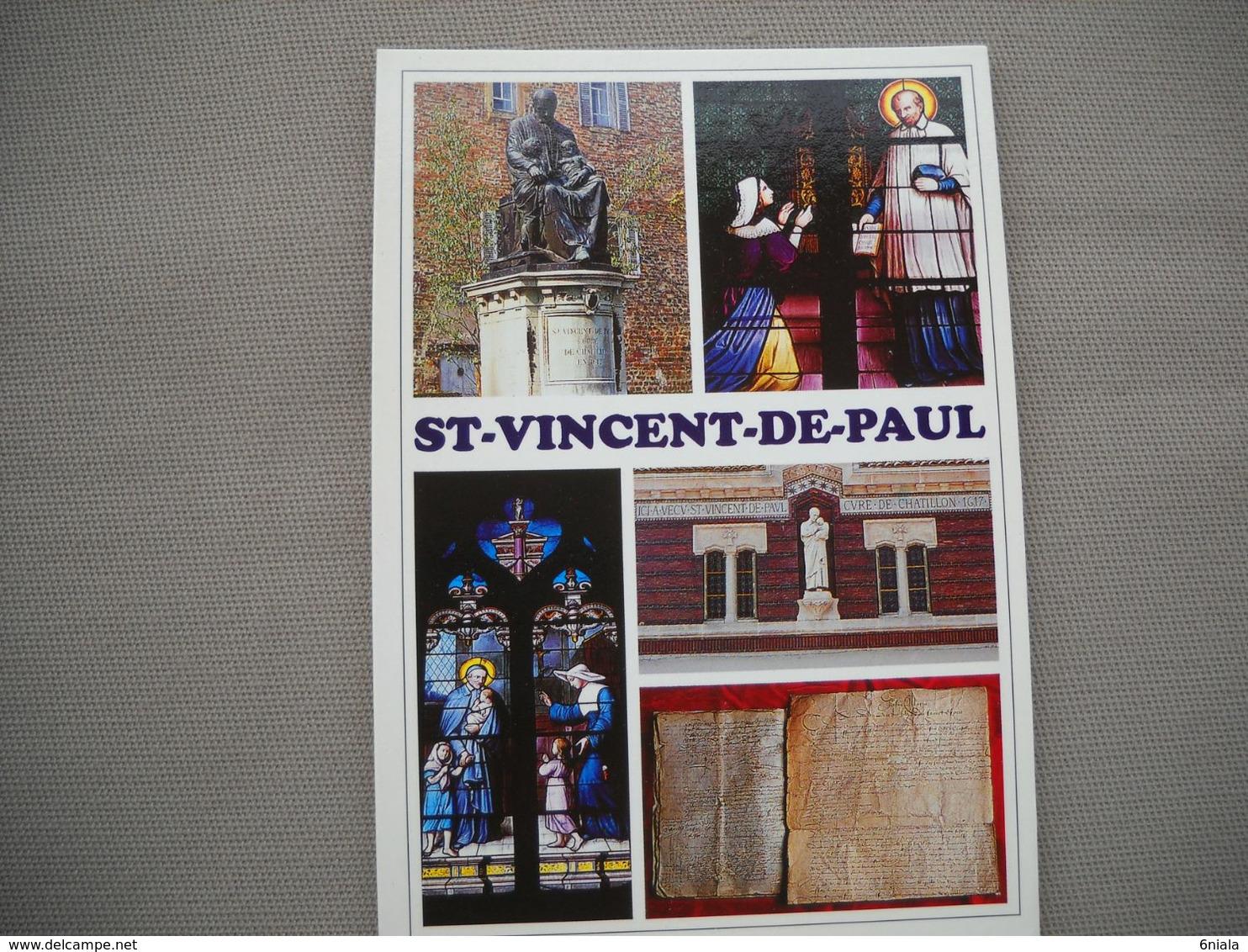 2708 Carte Postale Saint VINCENT De PAUL  Curé De Châtillon En 1617 Ou Il Fonda Les Dames De La Charité       01  Ain - Châtillon-sur-Chalaronne