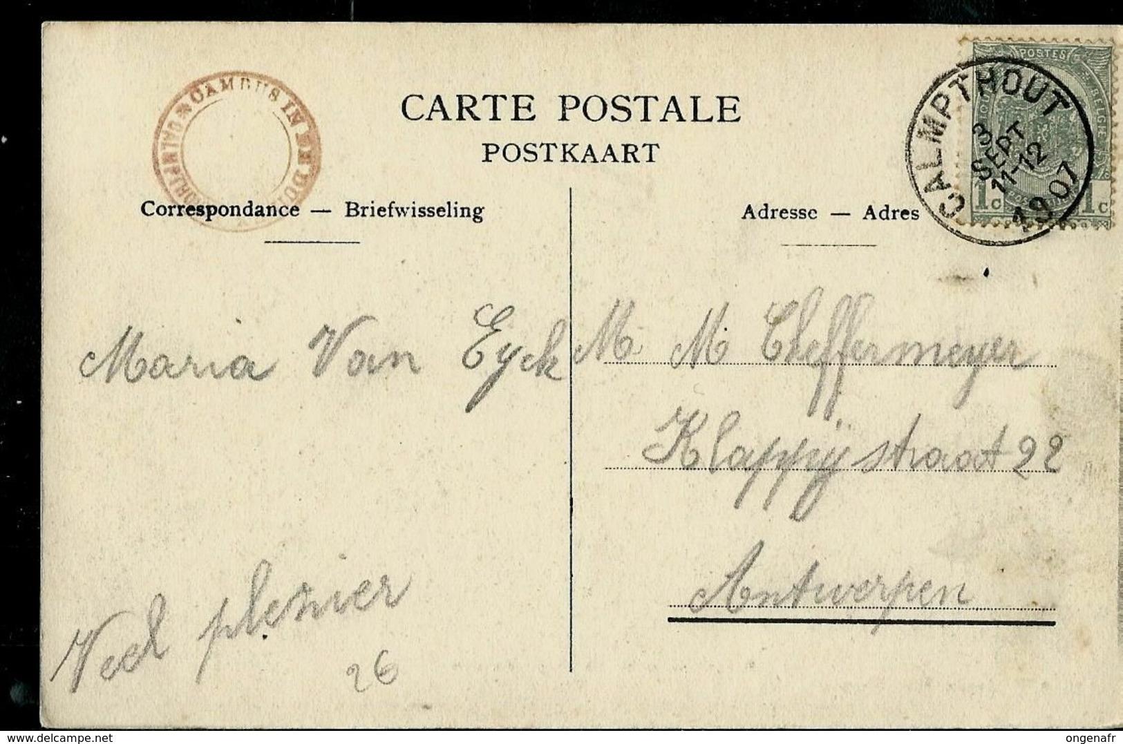 Heide-Calmpthout ( De Duinen) écrite: Calmpthout 03/09/1907 - Kalmthout