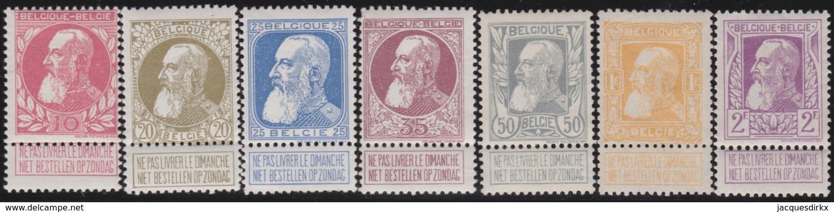 Belgie     .   OBP         .   74/80      .      *      .     Ongebruikt Met Gom   .   /   .   Neuf Avec Gomme - 1905 Thick Beard