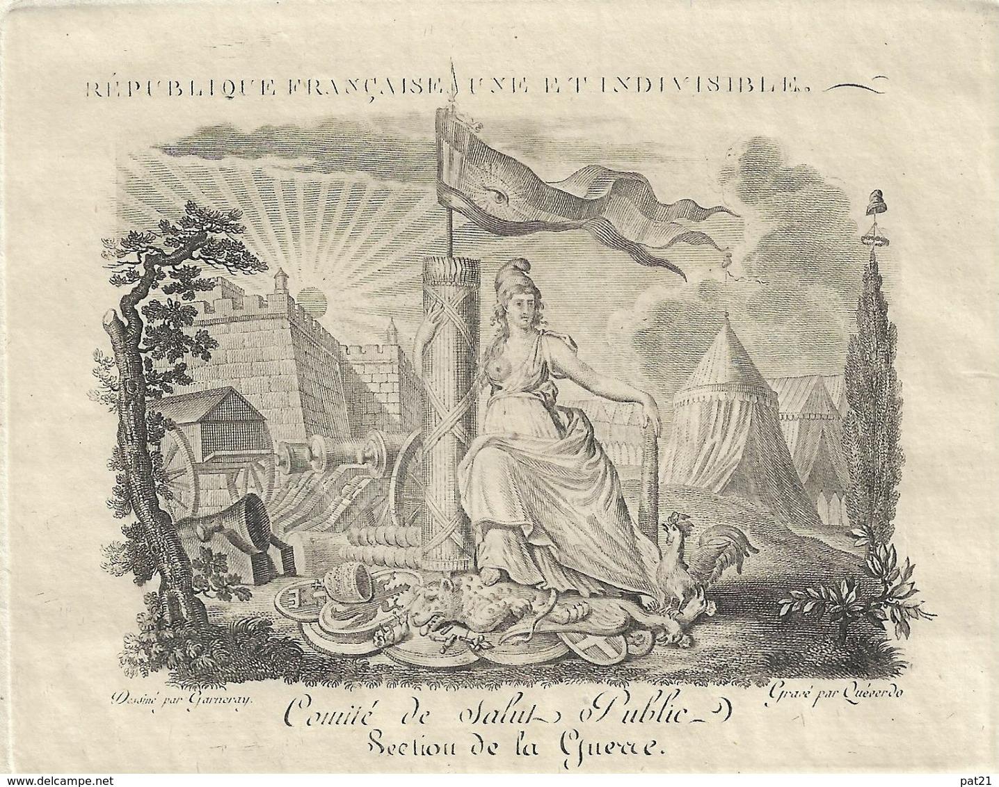 Comité De Salut Public, Section De La Guerre: 8 Pluviose An 3. Lazare Carnot, Cambacéres, Jean Pierre Chazal ....... - Historical Documents