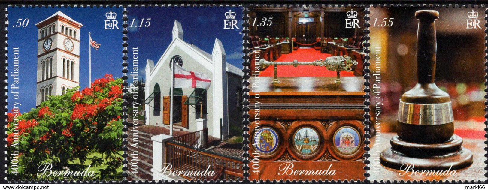 Bermuda - 2020 - 400th Anniversary Of Bermuda Parliament - Mint Stamp Set - Bermudes