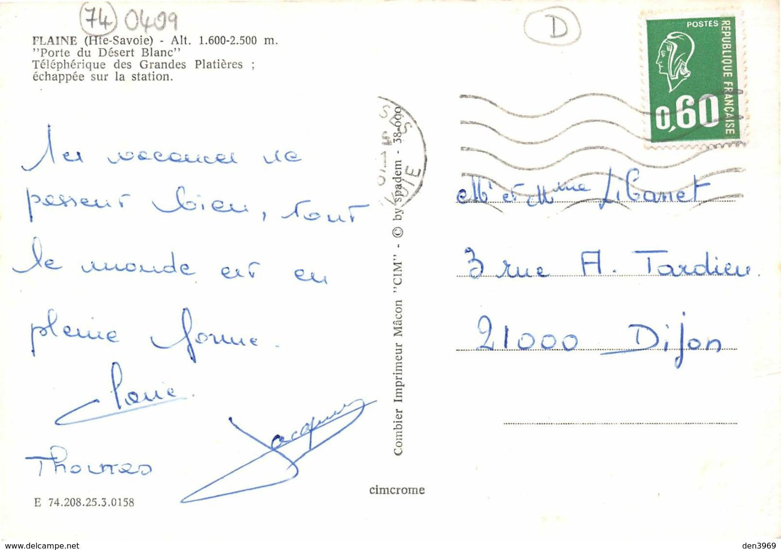 FLAINE - Porte Du Désert Blanc - Téléphérique Des Grandes Platières ; échappée Sur La Station - Other Municipalities