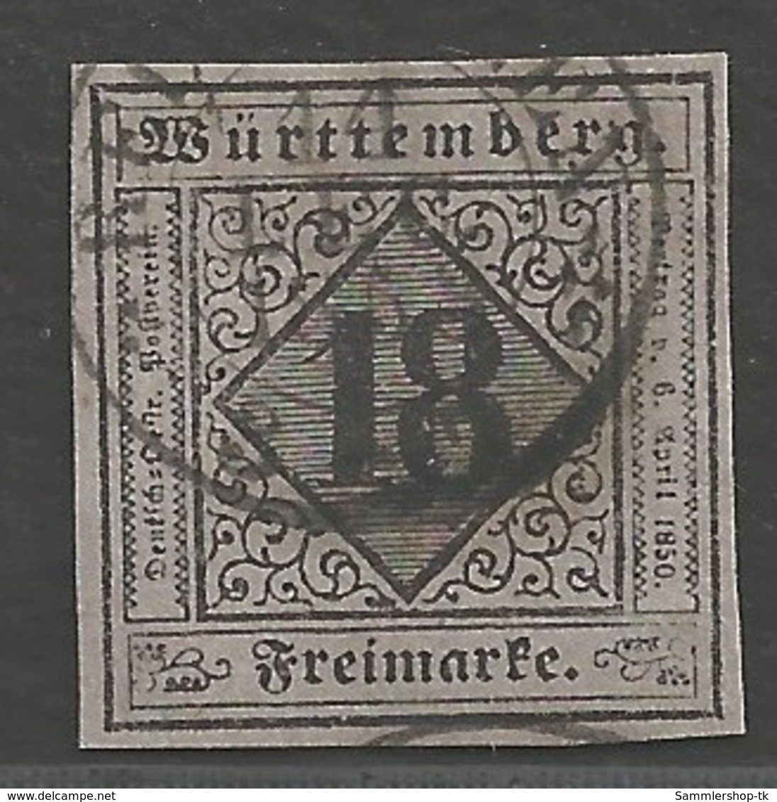 Württemberg  Michel Nummer 5 I  Gestempelt Geprüft - Wuerttemberg