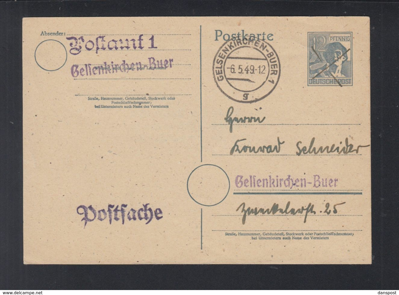 Alliierte Besetzung Postsache 1949 Gelsenkirchen-Buer - Bizone