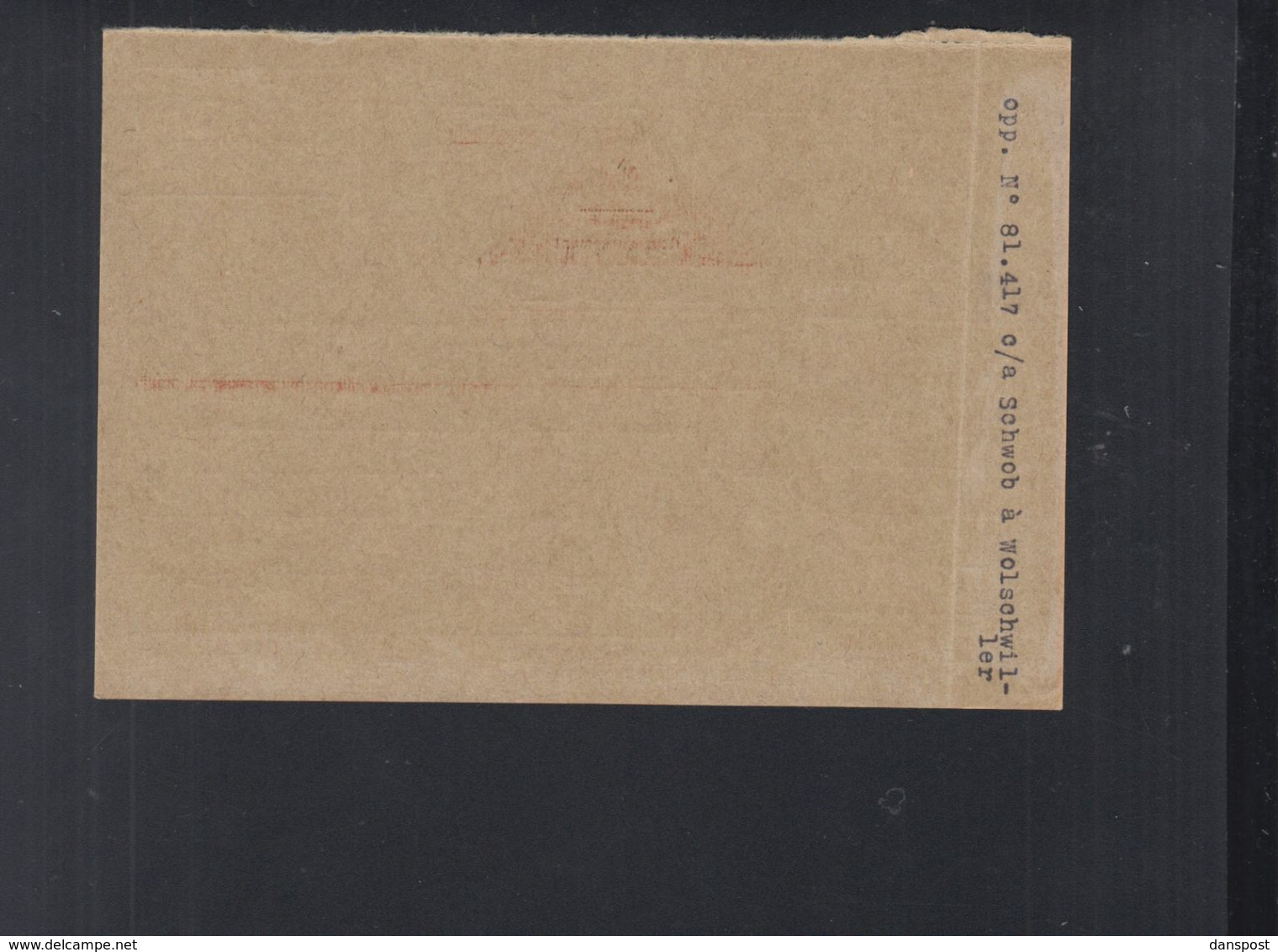 Frankreich France PK Remboursement 1936 Ferrette - Poststempel (Briefe)
