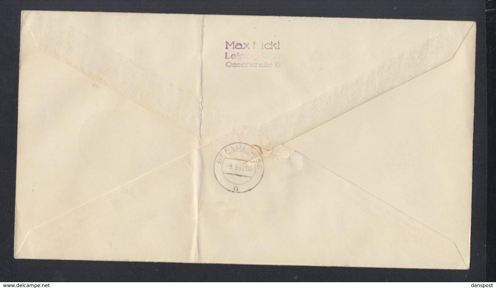 Dt. Reich Grossbrief 1940 Leipzig Nach Berlin - Deutschland