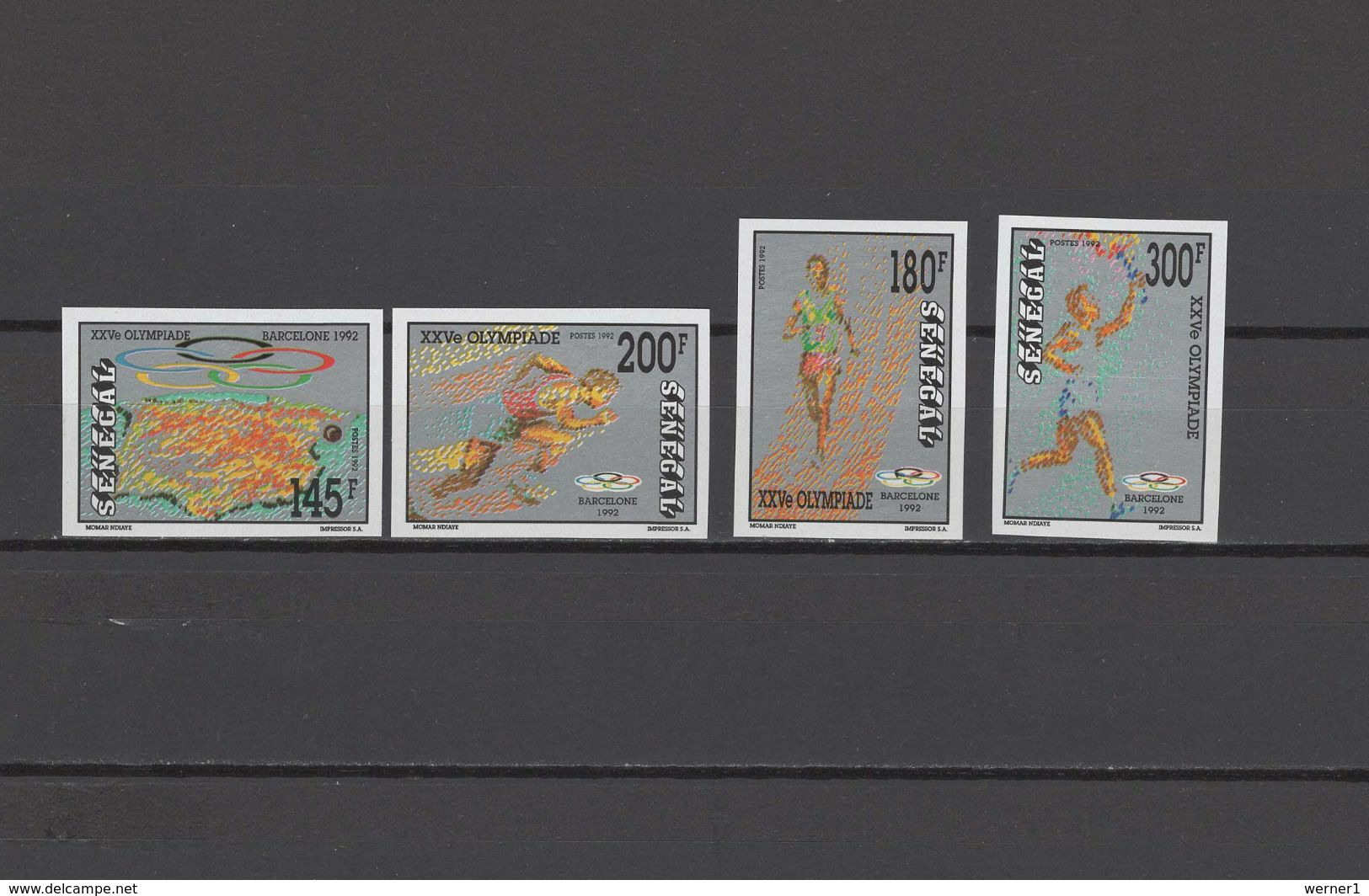 Senegal 1992 Olympic Games Barcelona Set Of 4 Imperf. MNH - Estate 1992: Barcellona