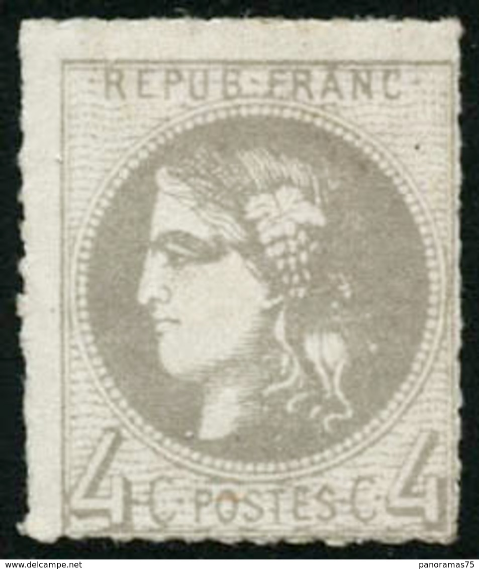 * N°41B 4c Gris R2 - TB - 1870 Emisión De Bordeaux