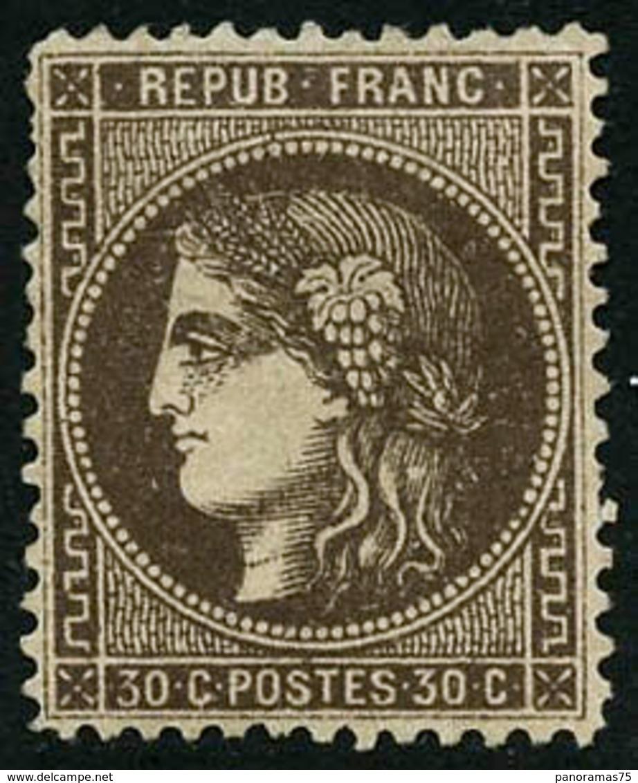 * N°47 30c Brun, Dentelé Bon Centrage - TB - 1870 Uitgave Van Bordeaux
