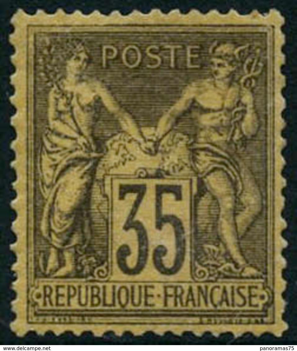 ** N°93  35c Violet Noir S/jaune - TB - 1876-1898 Sage (Type II)