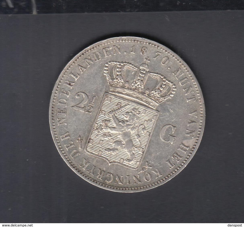 Niederlande 2 1/2 Gulden 1870 - [ 3] 1815-… : Royaume Des Pays-Bas