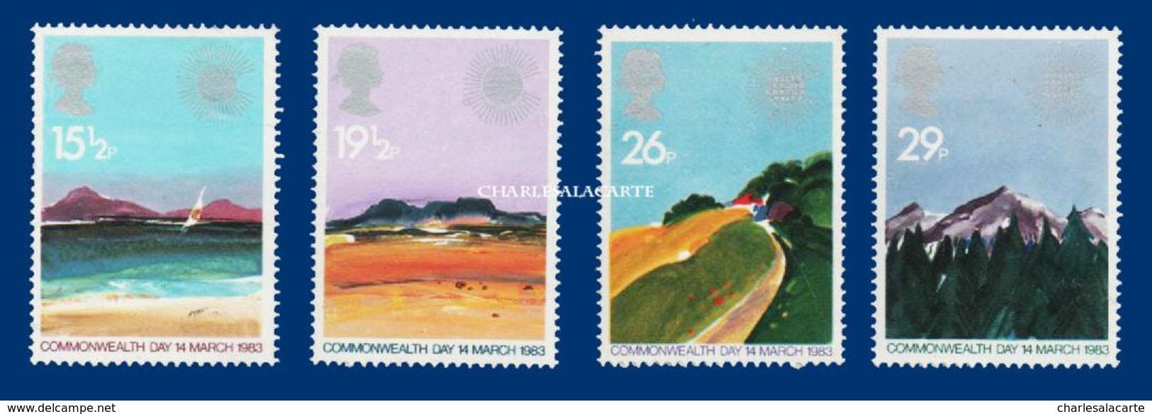 GREAT BRITAIN 1983  GEOGRAPHICAL REGIONS  U.M. S.G. 1211-1214    N.S.C. - Unused Stamps