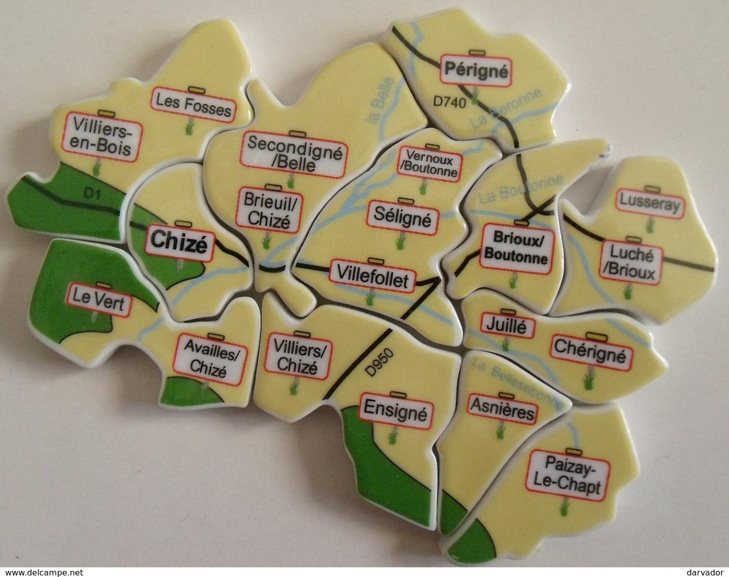 Série De Fèves Complète : Puzzle, Les Douze Fèves Du Val De Boutonne , Deux-sèvres , édition Unique Et Tirage Limité - Regions