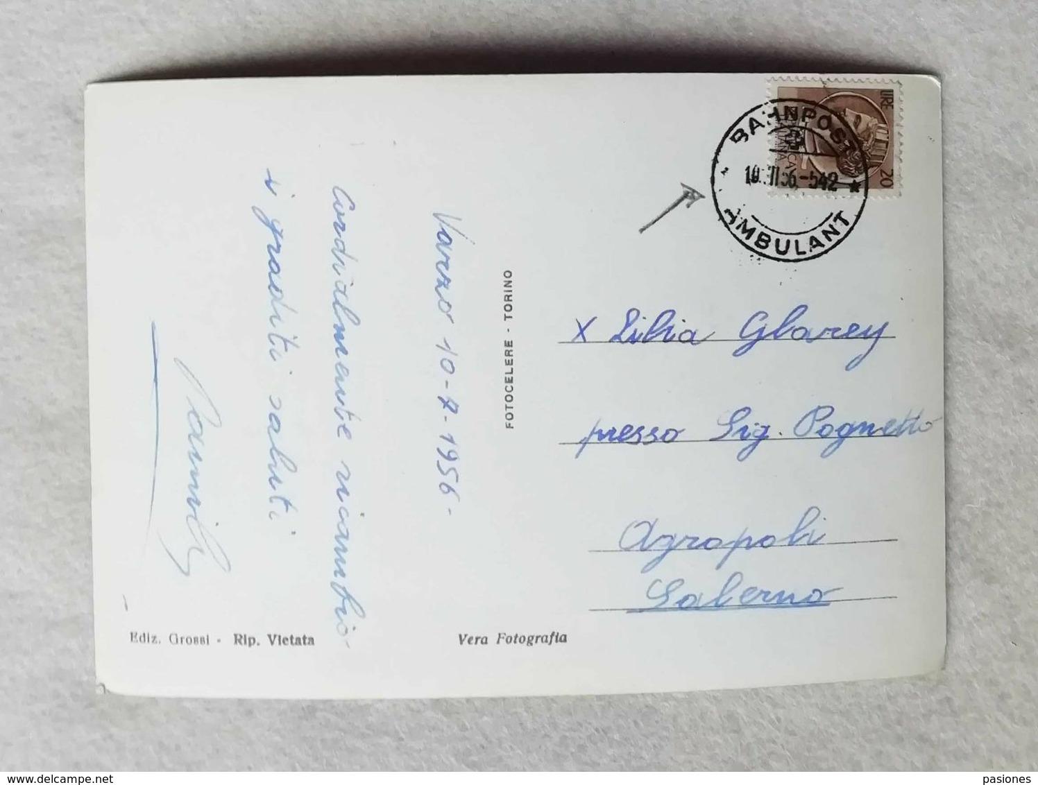 Cartolina Illustrata Varzo - Panorama, Viaggiata Per Agropoli 1956 - Otras Ciudades