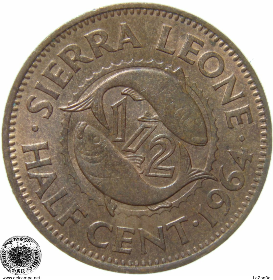 LaZooRo: Sierra Leone 1/2 Cent 1964 UNC - Sierra Leone