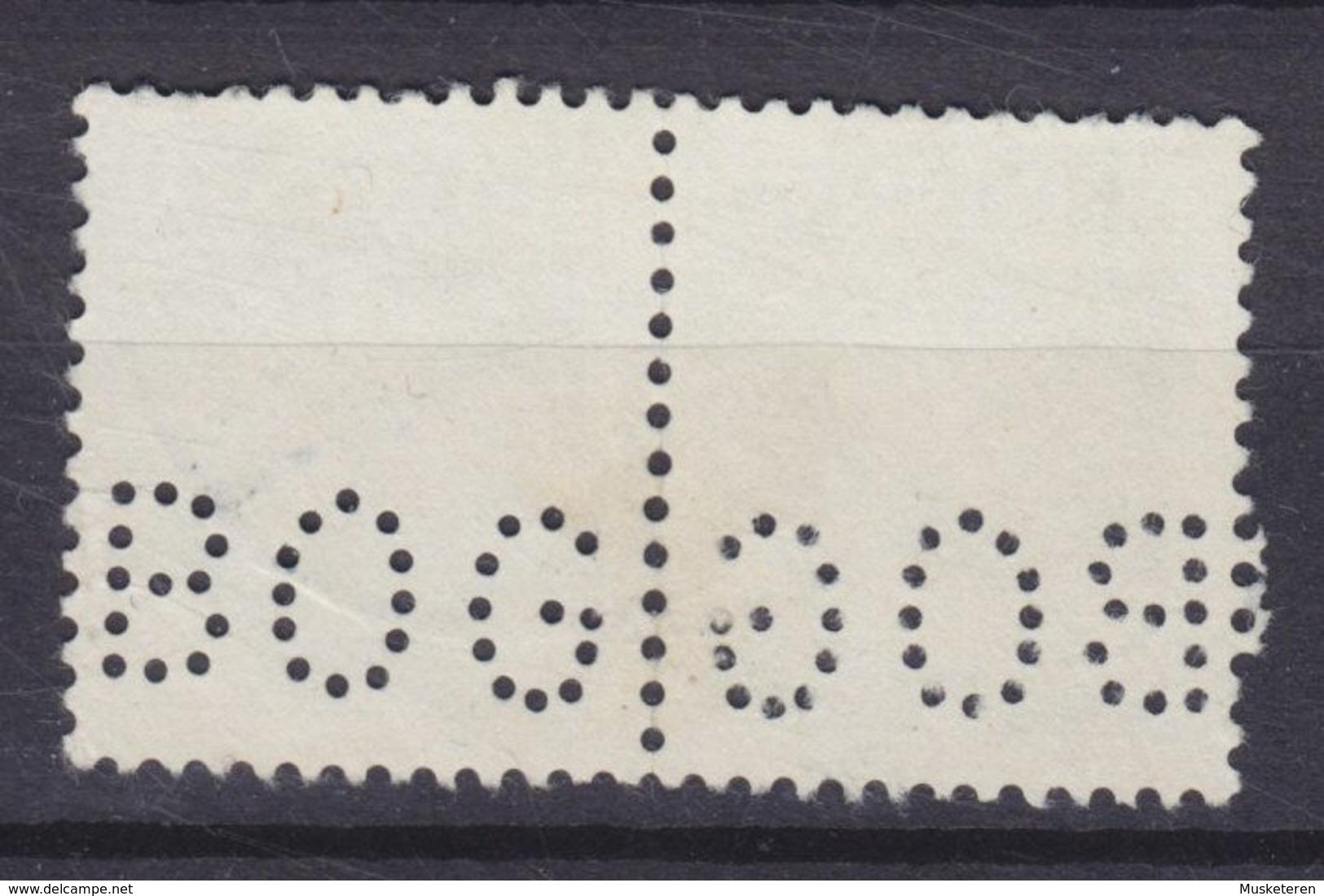 Denmark Perfin Perforé Lochung (B33) 'BOG' Boghallen, København Chr. X Pair Paare (2 Scans) - Errors, Freaks & Oddities (EFO)