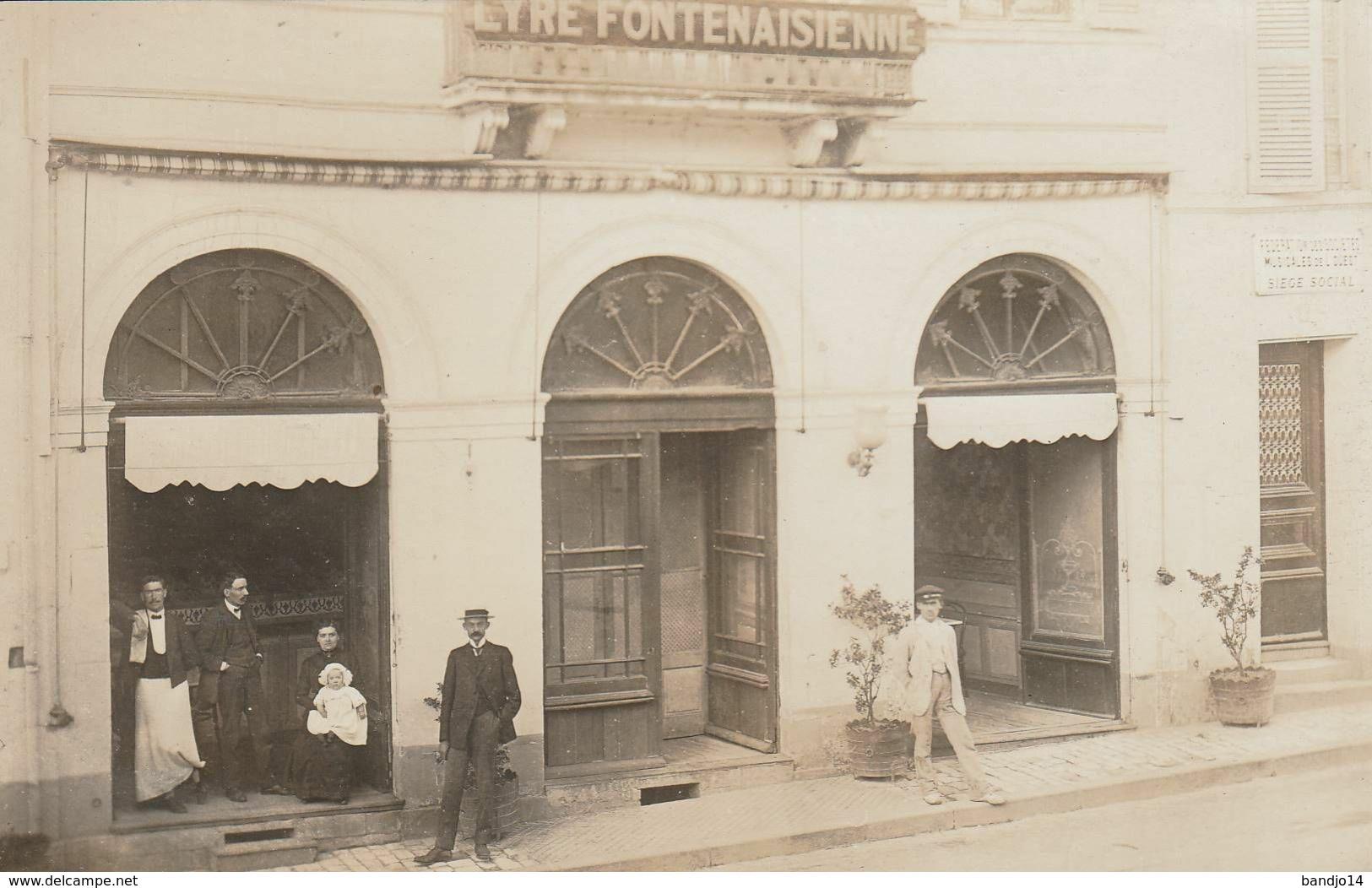 """Fontenay Le Comte - RARE - Ensemble De 3 Cartes Photos """" La Lyre Fontenasienne """" - Fontenay Le Comte"""