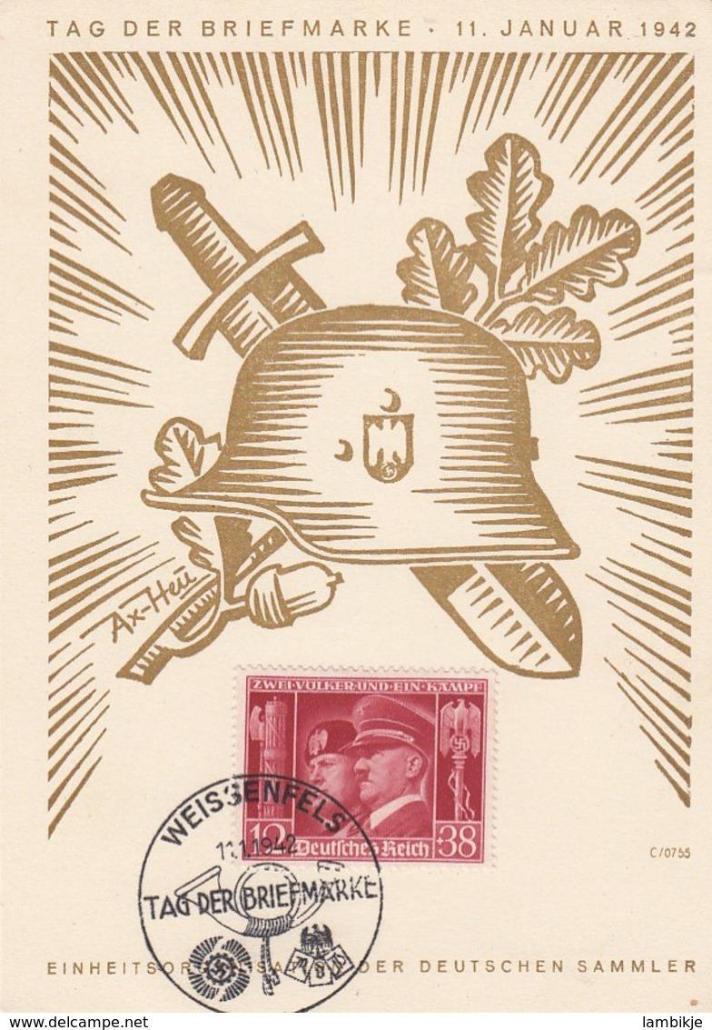 Deutsches Reich Postkarte 1942 Tag Der Briefmarke - Germany
