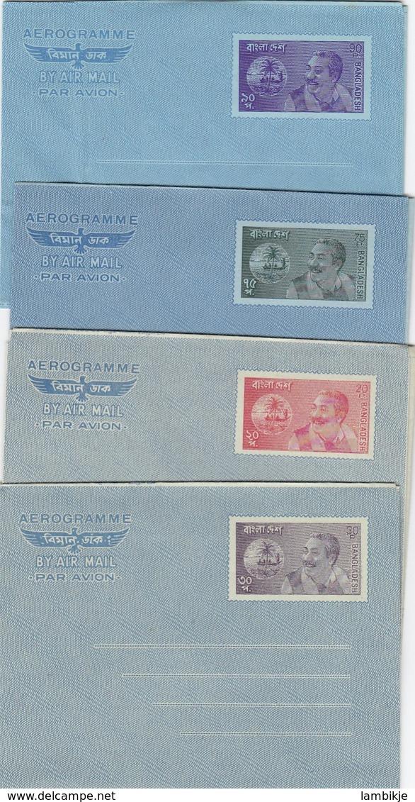 Bangladesh 4 Aerograms 1975-2000 - Airplanes