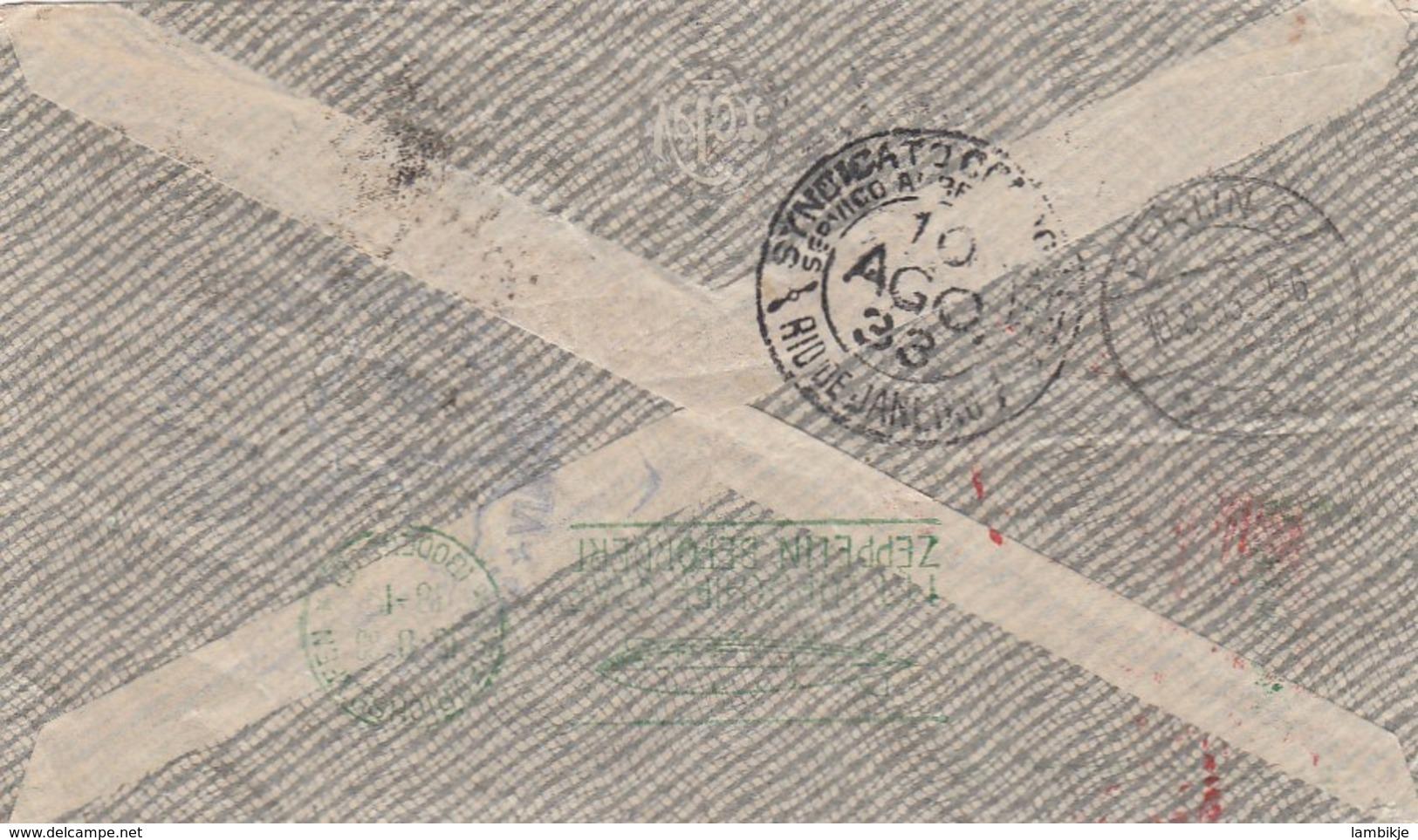Brazil Cover Zeppelin 1933 - Brazil