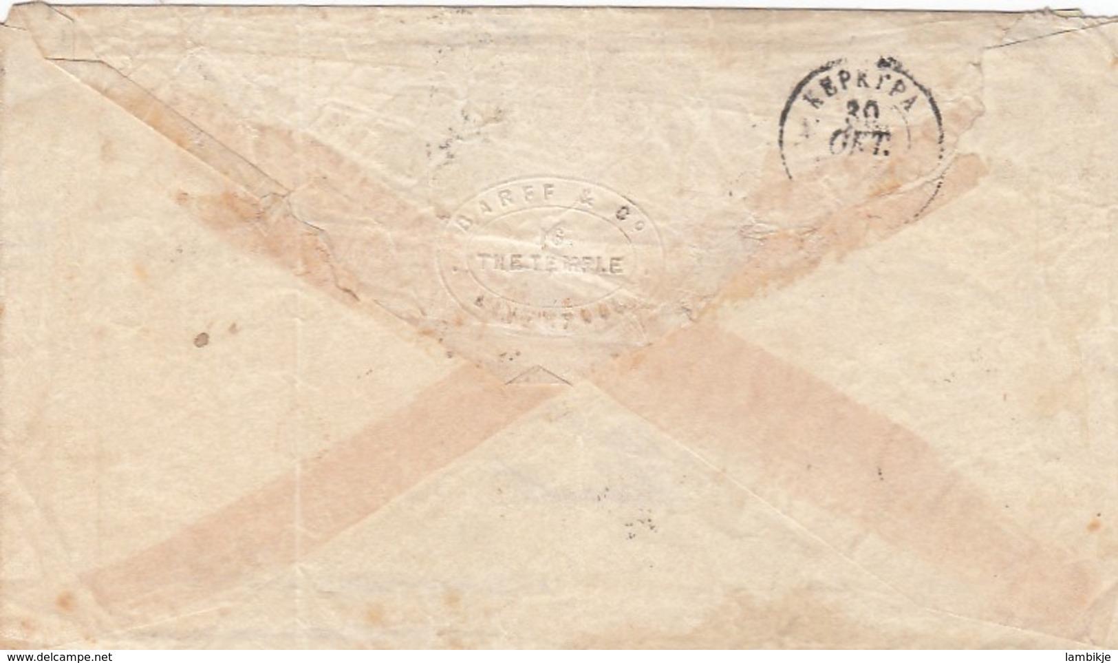 Greece Cover 1871 With 4 Colours - Brieven En Documenten