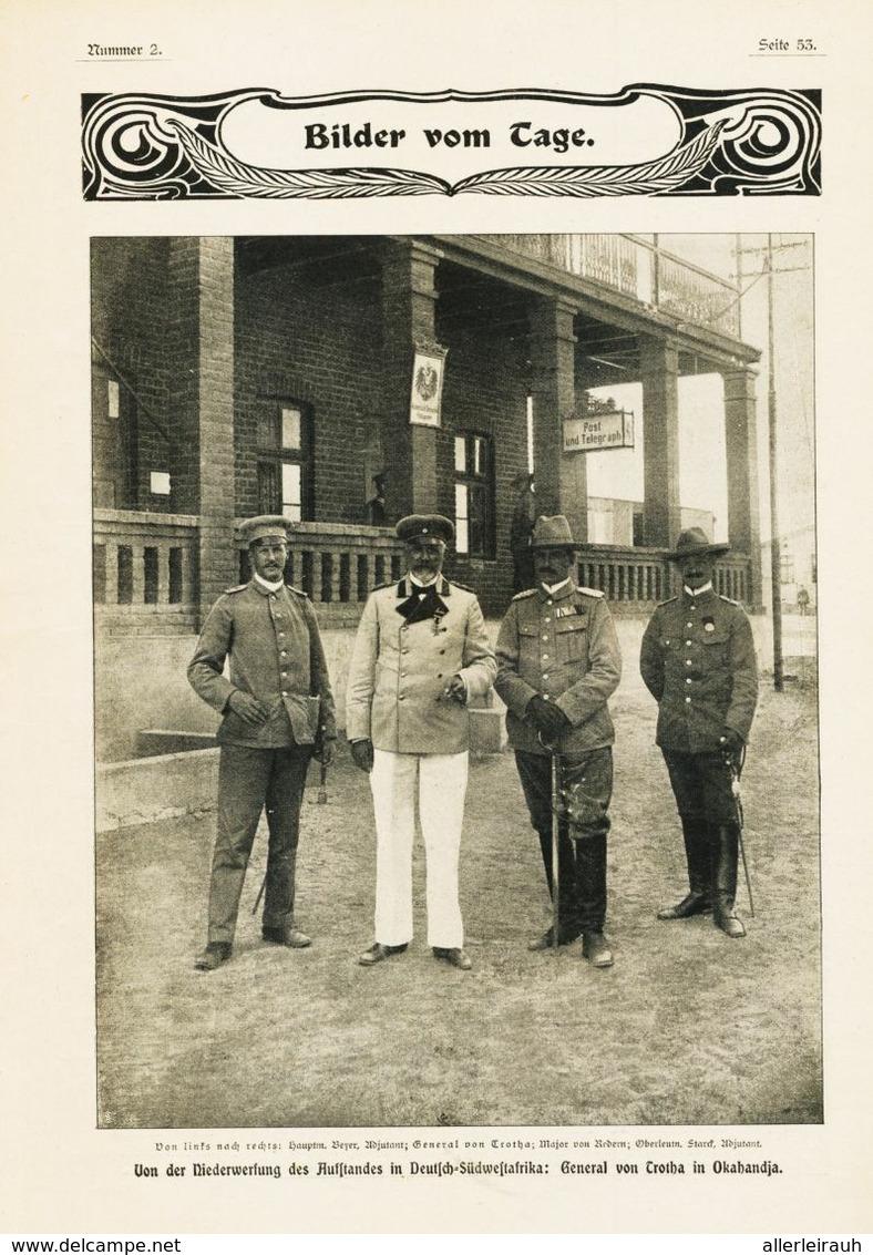 Von Der Niederwerfung Des Aufstandes In Deutsch-Südwestafrika  / Druck, Entnommen Aus Zeitschrift/ 1905 - Non Classés