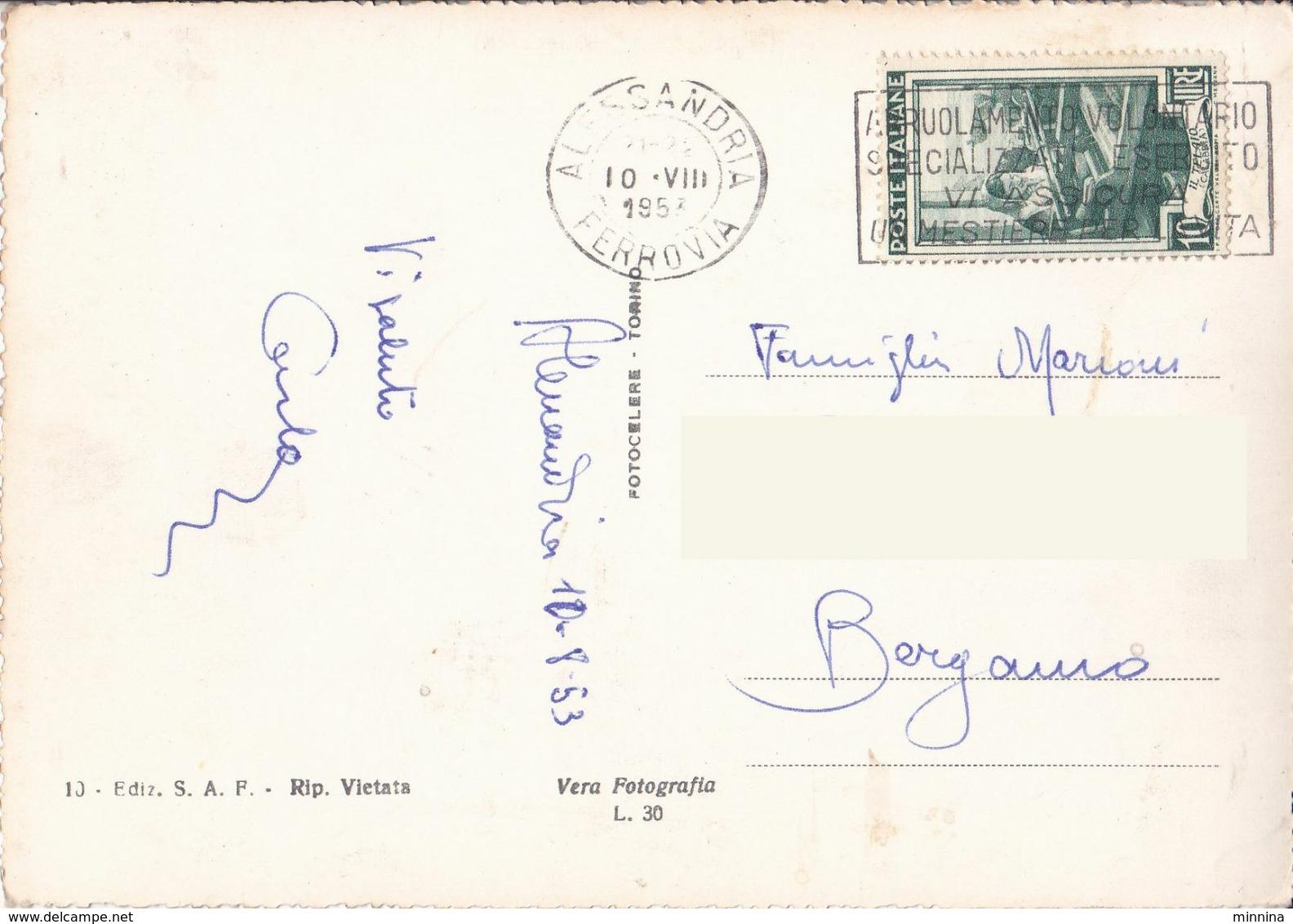 Alessandria - Stazione Ferroviaria E Giardini Pubblici - 1953 - Alessandria