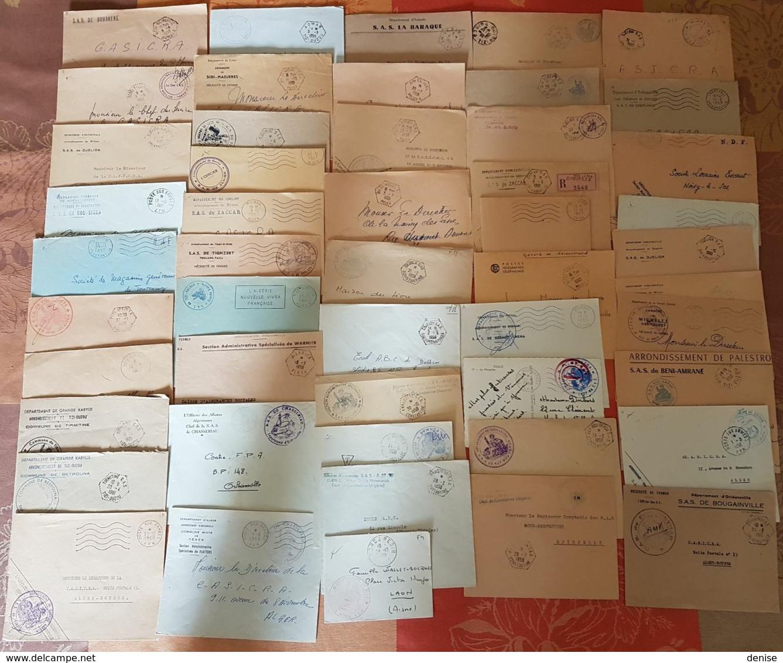 Algerie Française - Lot De 50 Lettres En Franchise Militaire - DEPART 1 EURO - Années 1959-1962 - Covers & Documents