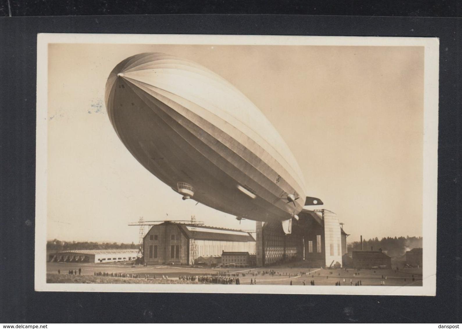 Dt. Reich AK LZ 129 Hindenburg 1936 Gelaufen - Deutschland