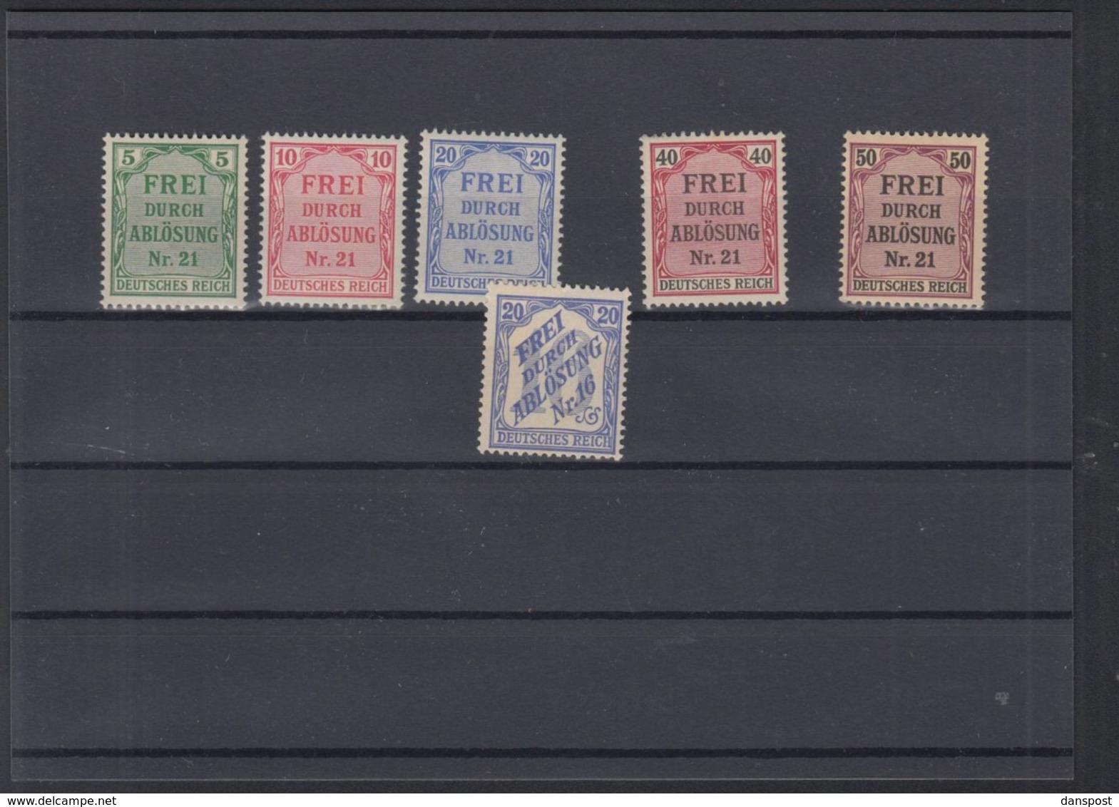 Dt. Reich Lot Dienst Postfrisch - Dienstpost