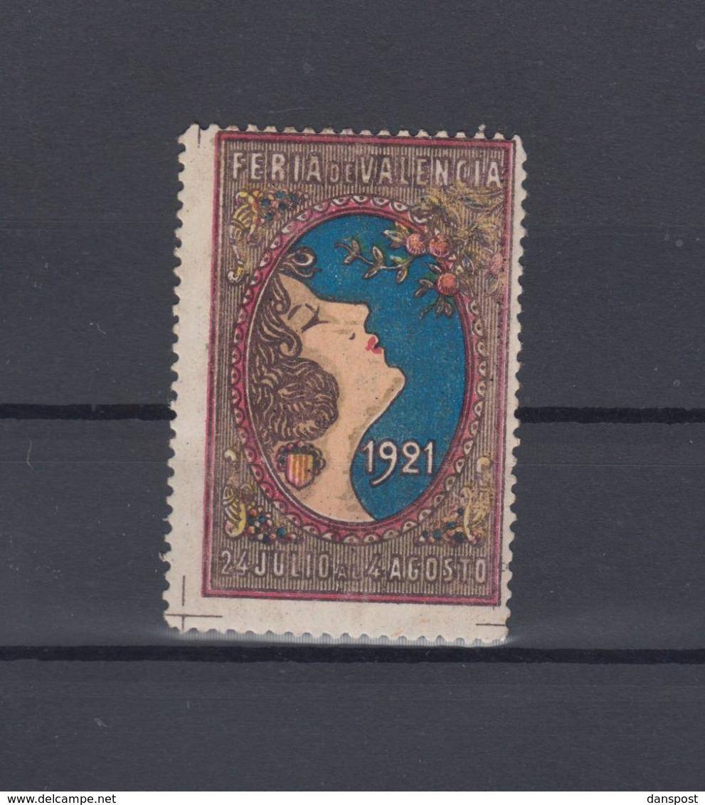 Spanien Espana Vignette Feria De Valencia 1921 - 1889-1931 Königreich: Alphonse XIII.