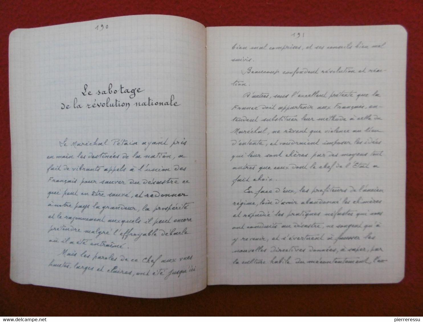 THIERS ALEXANDRE BIGAY MANUSCRIT PAROLES DANS LE DESERT - Manuskripte