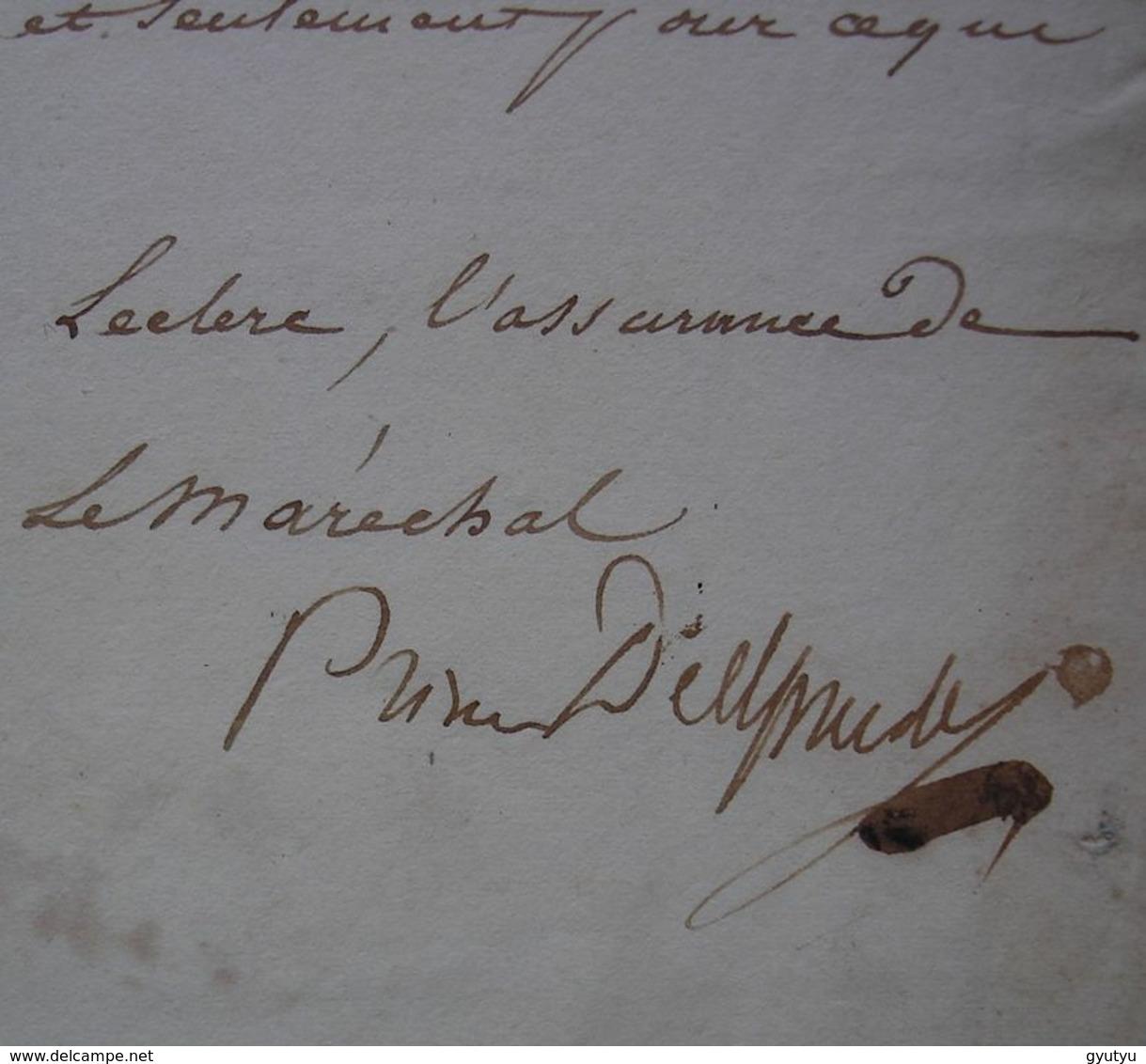 Empire Davout Maréchal Prince D'Eckmühl Duc D'Auerstaedt Lettre Autographe Du 19 Mars 1815, Veille Des 100 Jours ! - Historical Documents