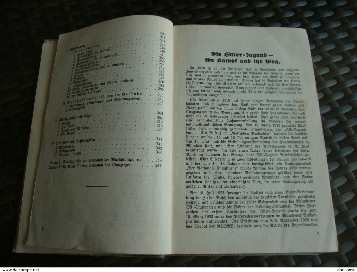 Drittes Reich KJ. Im Dienst Ausbildungsvorschrift Für Die Ertüchtigung Der Dt. Jugend Verlag Bernard & Graefe Berlin 193 - 5. Zeit Der Weltkriege