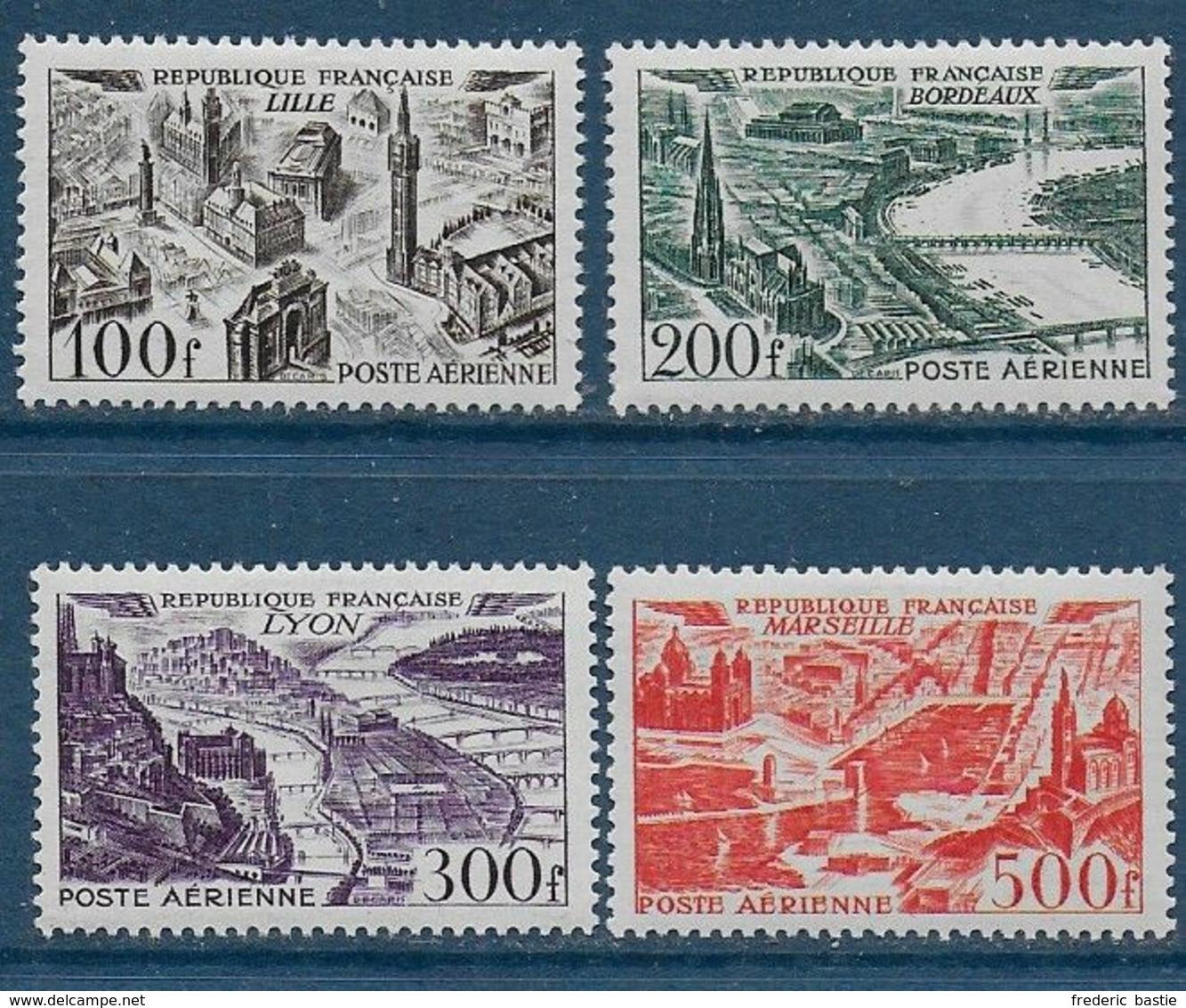 France P.A.  Série N° 24 à 27 *  -- Cote : 70 € - 1927-1959 Ungebraucht