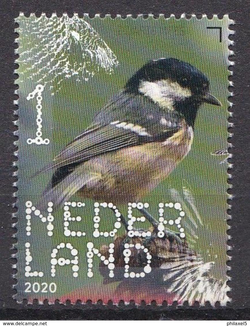 Nederland - 14 September 2020 - Beleef De Natuur - Bos- En Heidevogels - Zwarte Mees - MNH - Sperlingsvögel & Singvögel