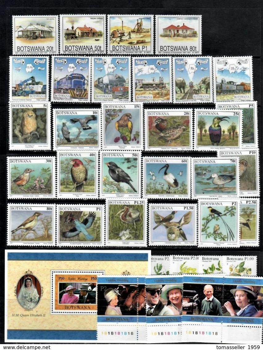 BOTSWANA 14 Years ( 1994-2007 Y.y.) - 67 Issues ( 275 St.+3 M/s) - Botswana (1966-...)