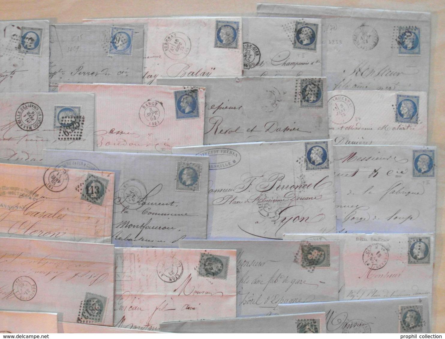 LOT De 50 LETTRES CLASSIQUES De FRANCE - DEPART 1 EURO - Marcophilie (Lettres)