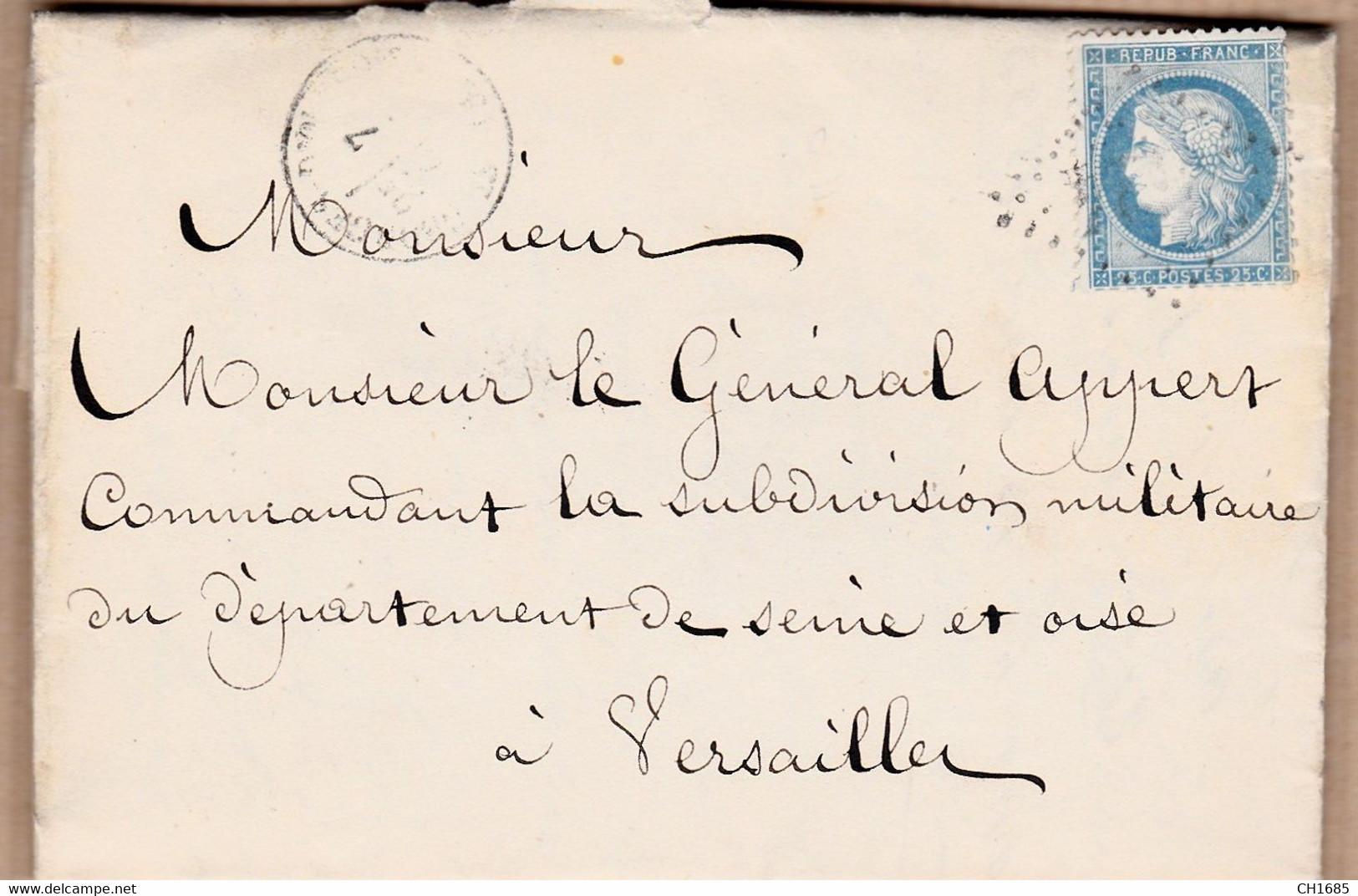 Fort Des Saumonards Ile D'Oléron : Lettre 1871 Pour Le Général Appert D'un Détenu Demandant Sa Liberté. Voir Description - 1849-1876: Classic Period