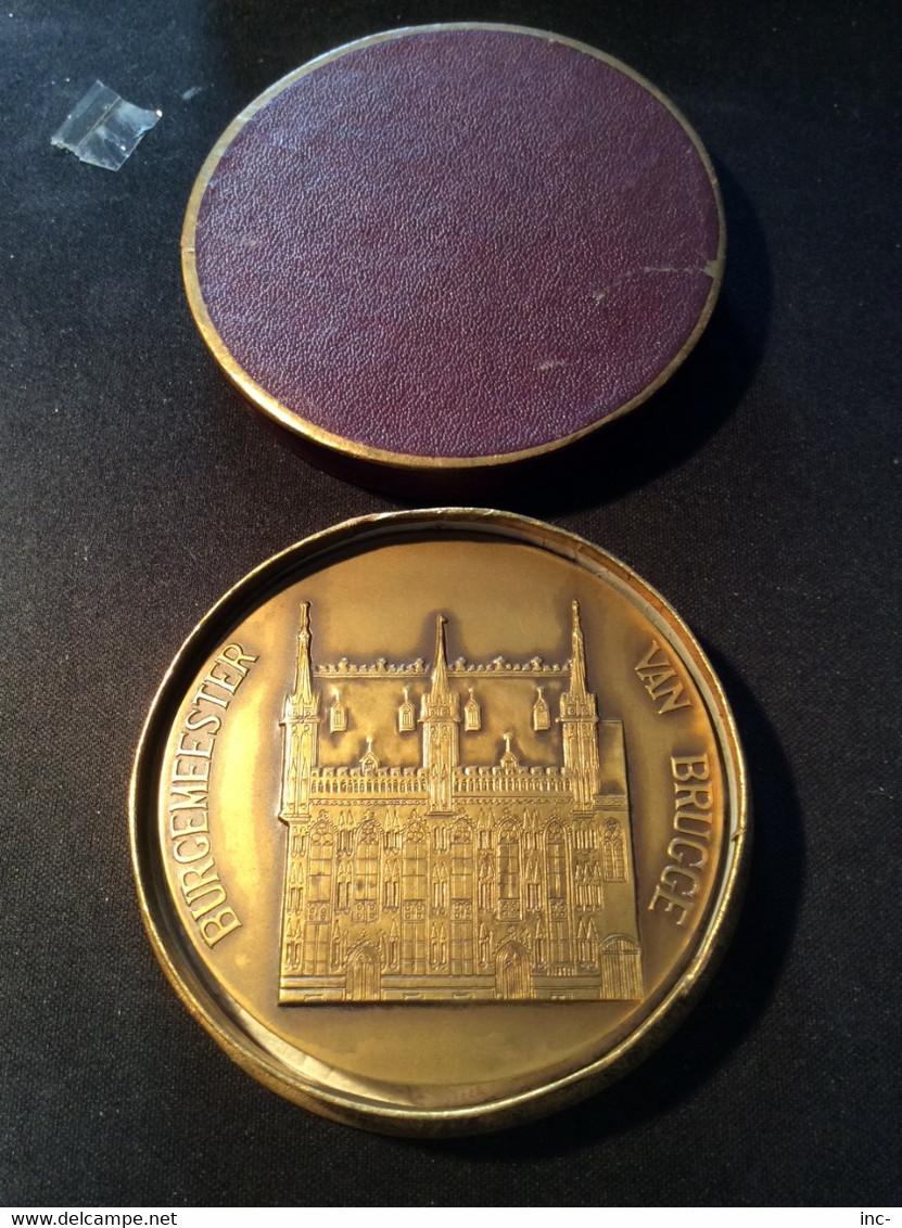 Médaille De Brugge Ex Bourgmestre,Ridder Victor Van Hoestenberche. - Belgium