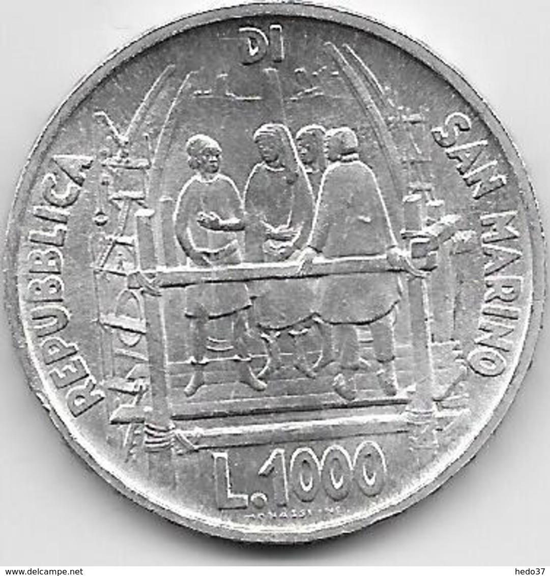 Saint Marin - 1000 Lire - 1977 - Argent - San Marino