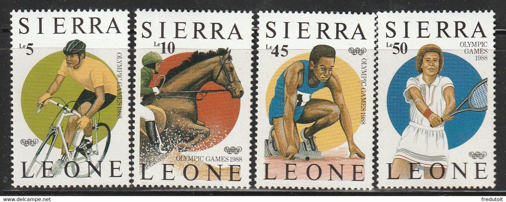 SIERRA LEONE - N°809/12 ** (1987) J.O De Séoul - Sierra Leone (1961-...)