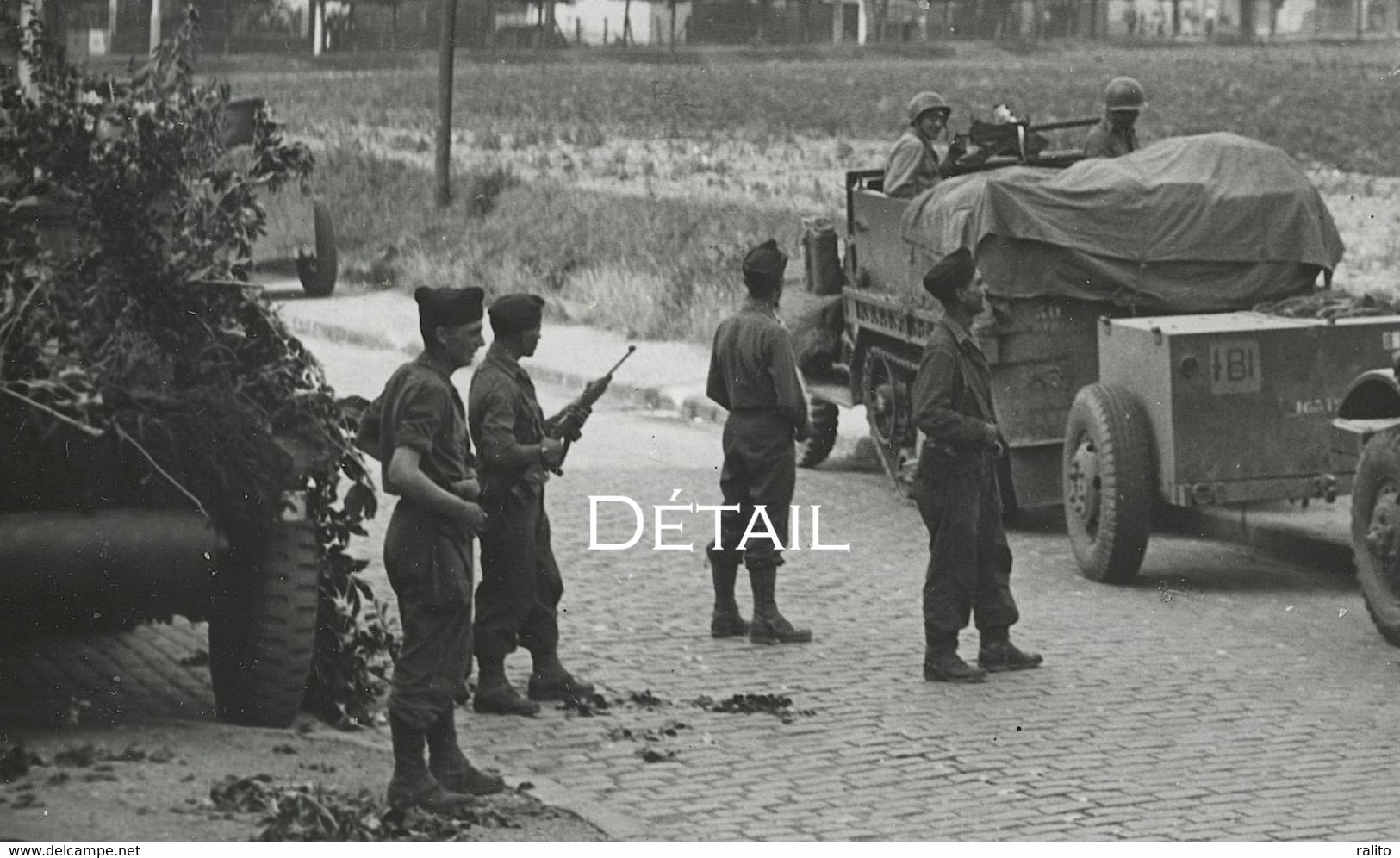 WWII LIBERATION Soldats 2e DB Bourget Août 1944 Leclerc - Guerre, Militaire