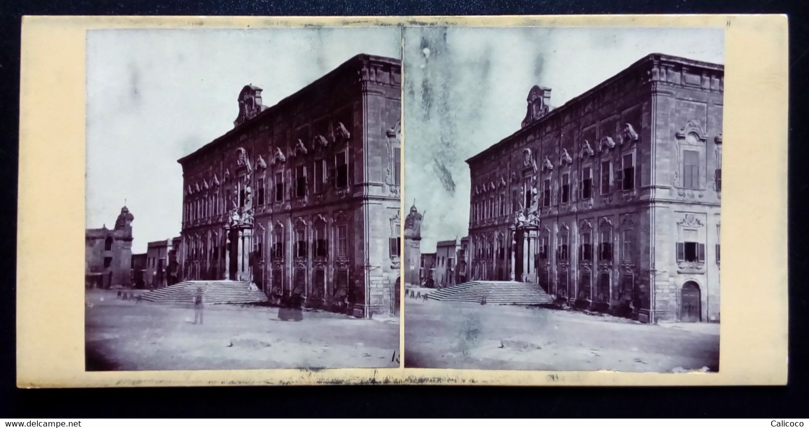 Vue Stéréoscopique Thé Hôtel Officiel Thé Spanish Chevaliers - Stereoscopic