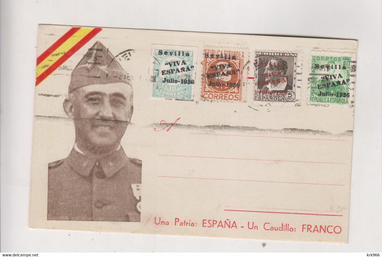 SPAIN 1936 Sevilla Nice Postcard - 1931-50 Cartas
