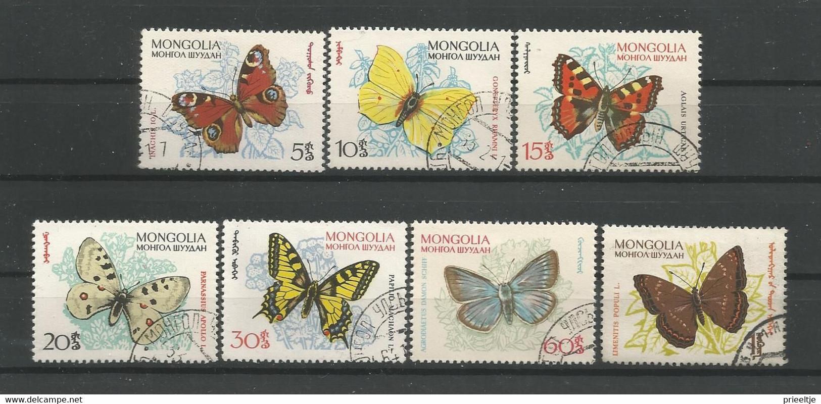 Mongolia 1963 Butterflies Y.T. 294/300 (0) - Mongolie