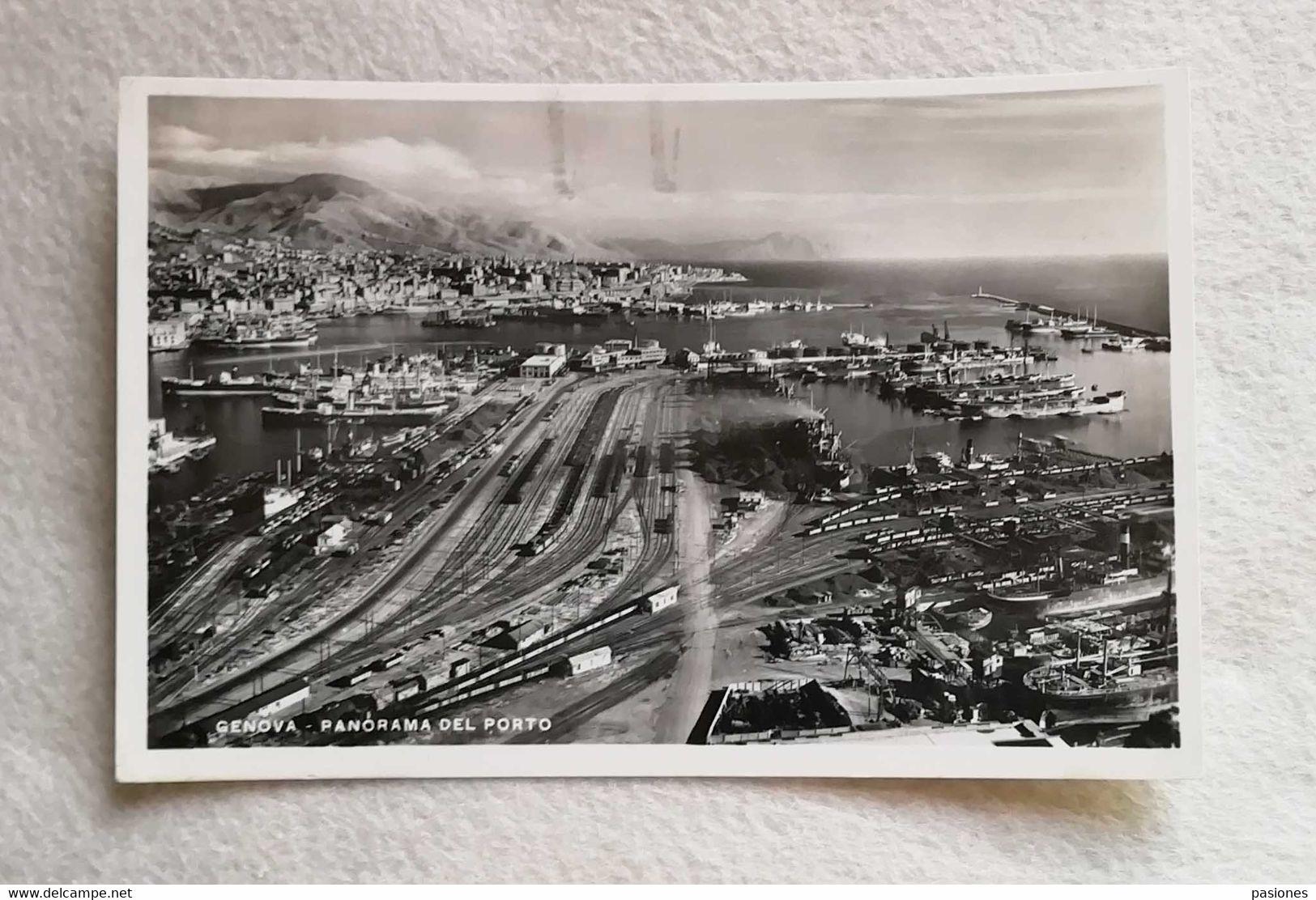 Cartolina Illustrata Genova - Panorama Del Porto, Viaggiata Per Bologna 1949 - Genova (Genoa)