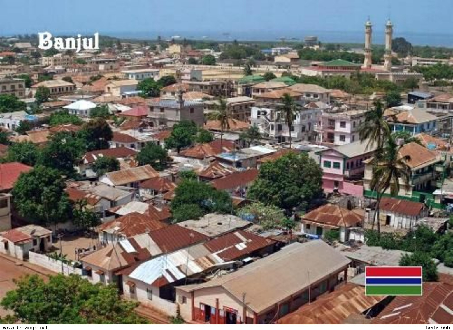 Gambia Banjul Overview New Postcard - Gambia