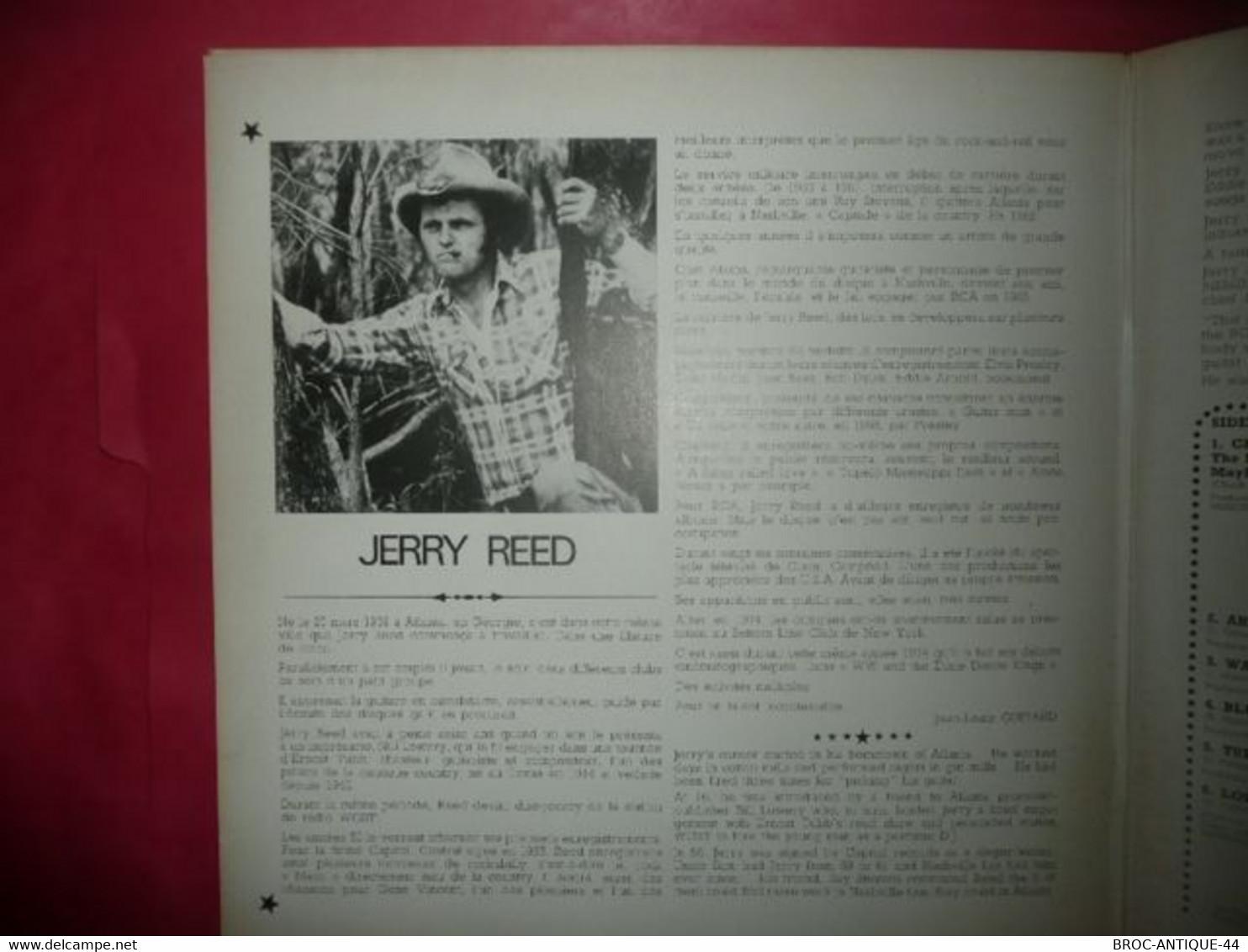 LP33 N°5972 - JERRY REED - FPL1 7305 - ROCK FOLK WORLD COUNTRY - VENDU EN ETAT INCONNU ? - Country En Folk