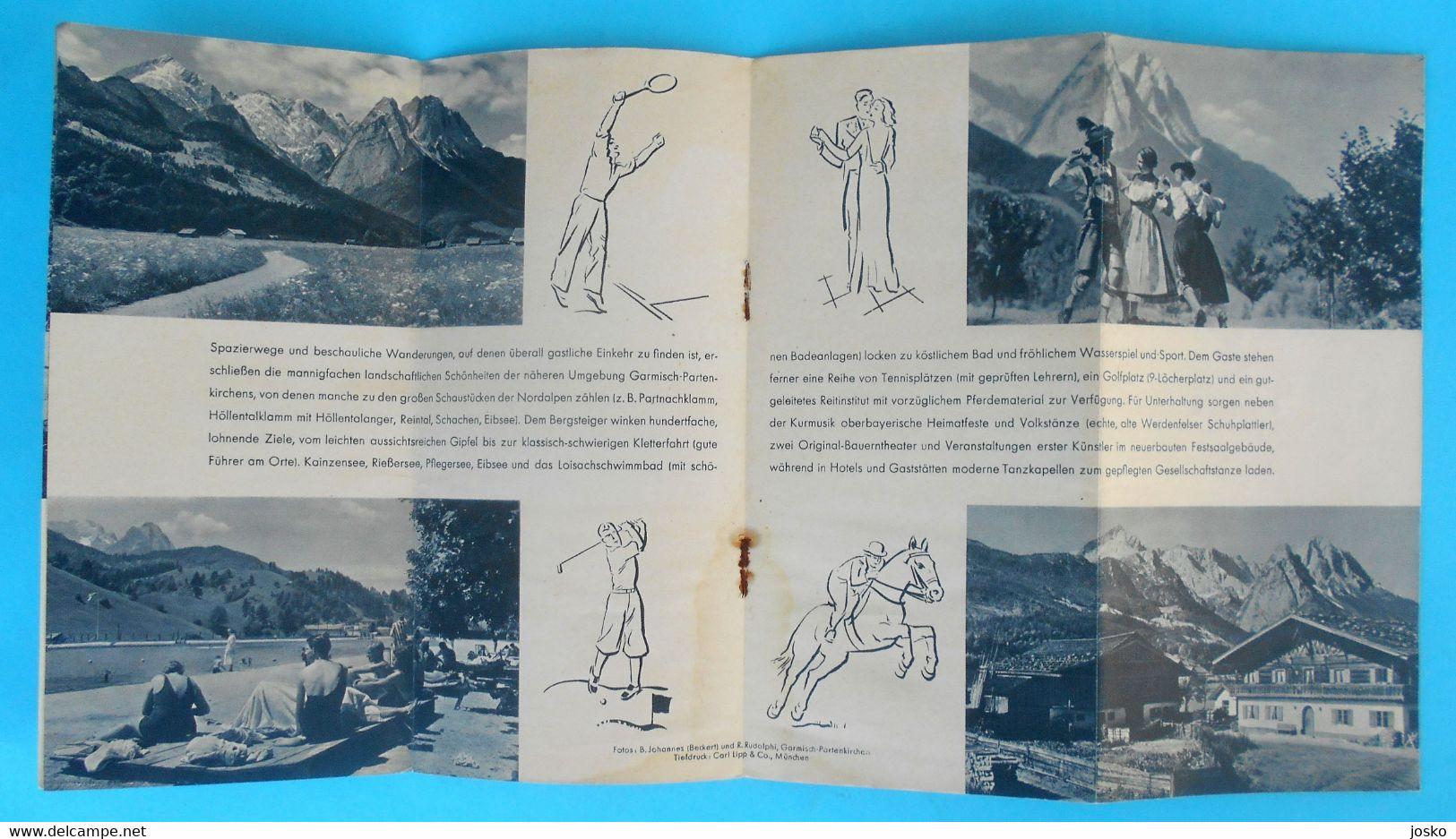 WINTER OLYMPIC GAMES GARMISCH-PARTENKIRCHEN 1936 - Old Brochure * Olympiad Olympiade Olympia Olimpici Germany - Olympische Spelen